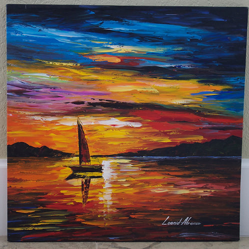 """""""Alone In The Sea"""" by Leonid Afremov"""