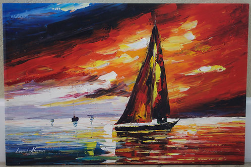 """""""Into The Wind"""" by Leonid Afremov"""