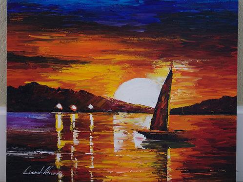 """Almost Sunset"" by Leonid Afremov"