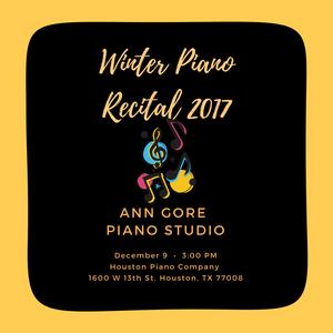 Winter Recital 2017