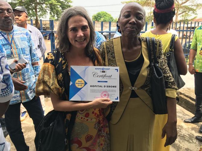 Hospital de Ebomé, mejor empleador de la región en 2018