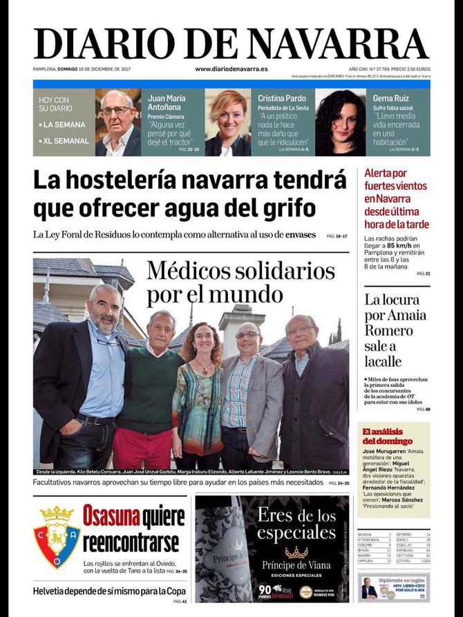 AMBALA en un reportaje sobre Médicos Solidarios de Diario de Navarra