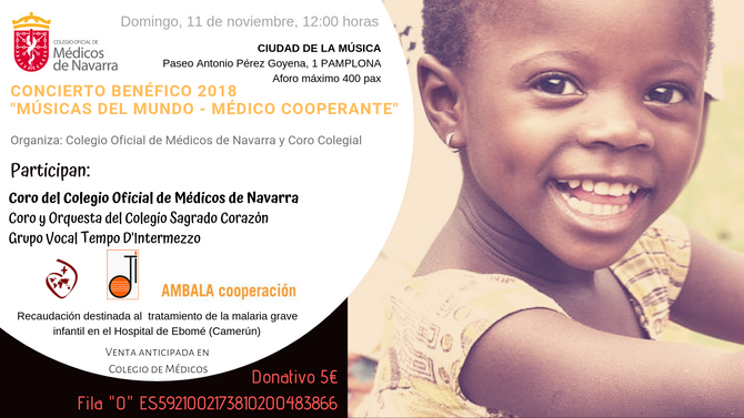 """Concierto Benéfico """"Músicas del Mundo - Médico Cooperante"""" en beneficio de AMBALA"""