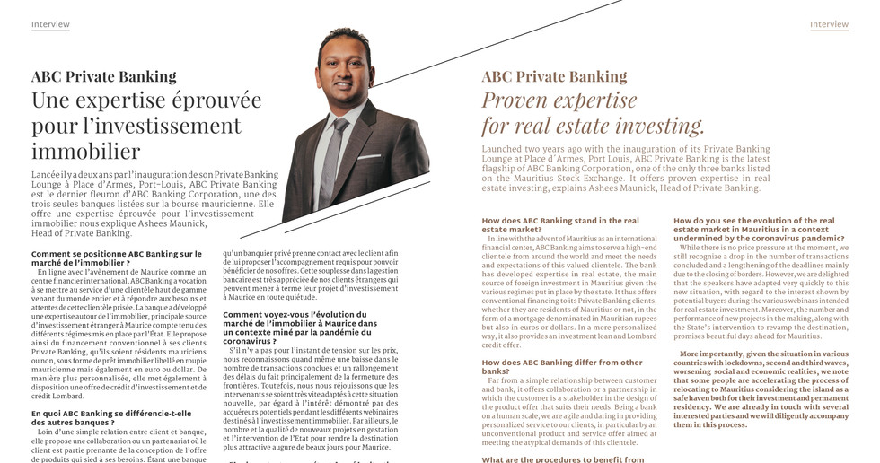 Interview ABC Private Banking