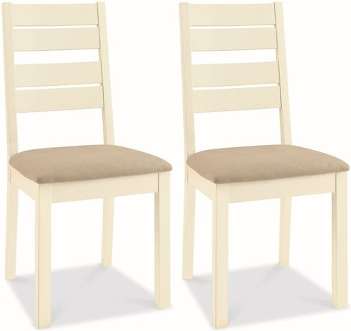 Provence Two Tone Slatted Dining Chair (Pair)