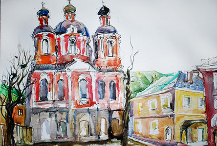 Moscow, old church