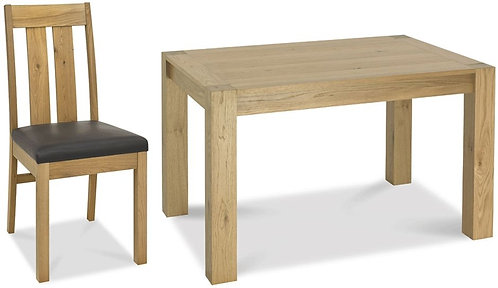 Turin Light Oak Extending Dining Set with 4 Chairs 125cm-165cm