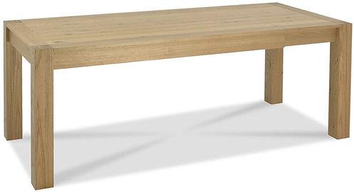 Turin Light Oak Rectangular Extending Dining Table - 165cm-205cm