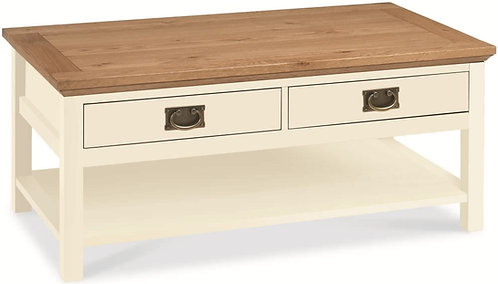 Provence Two Tone 2 Drawer Storage Coffee Table
