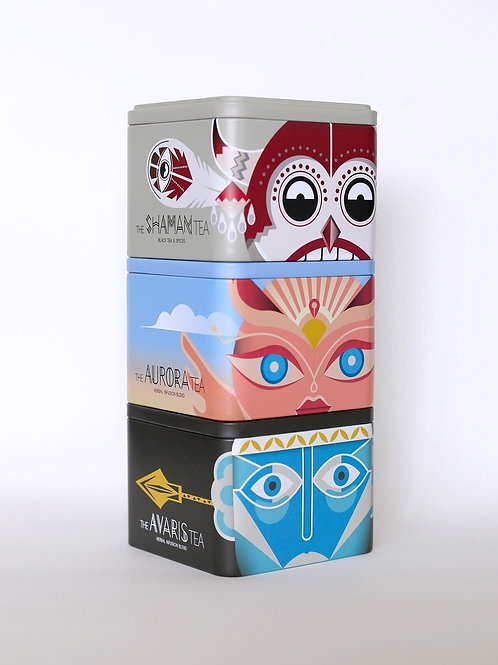Sparoza Handcrafted Tea Tin Set