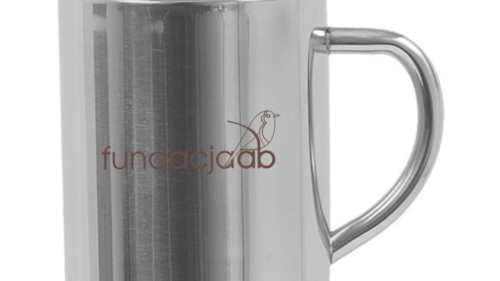 Kubek metalowy-logo fundacji
