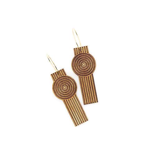wood earrings | ZEN GARDEN