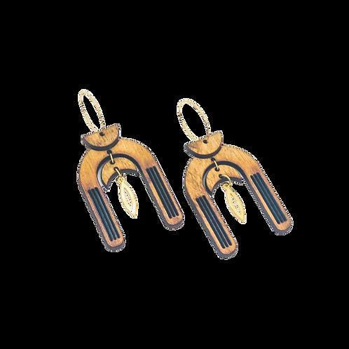 wood earrings | MOON GODDESS