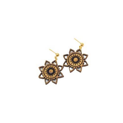 wood earrings | SUN LOVE