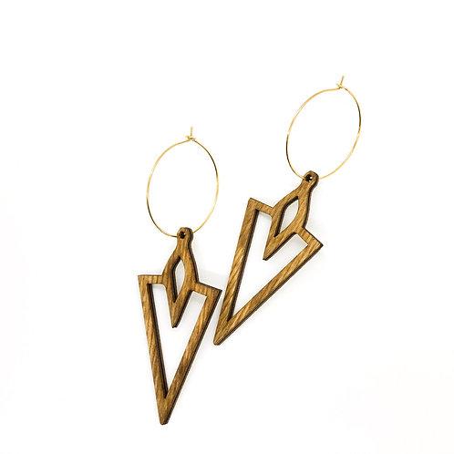 wood earrings | VENUS