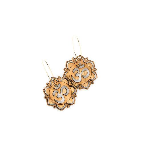 wood earrings | OM