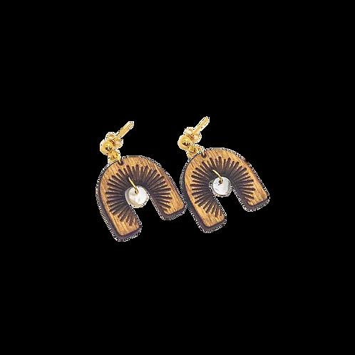 wood earrings | MOONDANCE