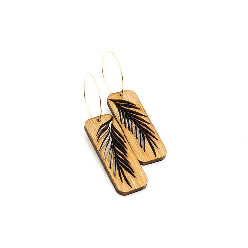 wood earrings | PALM