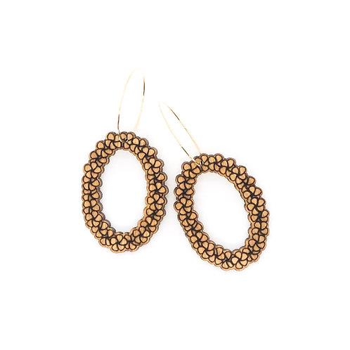 wood earrings | LEI