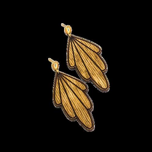wood earrings | SUN BEAM