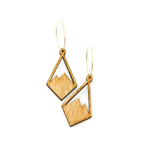 wood earrings | PEAK