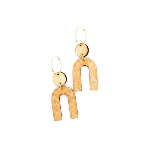 wood earrings | URSA
