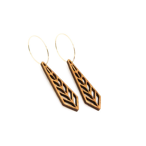 wood earrings | SPRUCE
