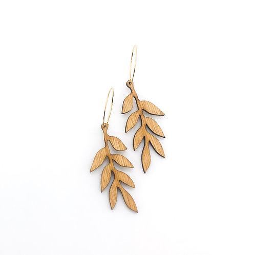 wood earrings | MAILE