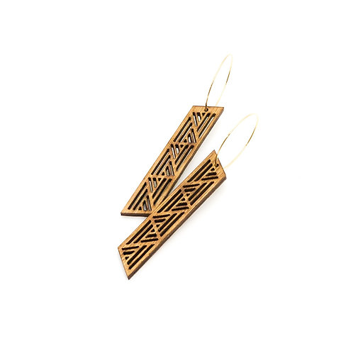 wood earrings | RAIN