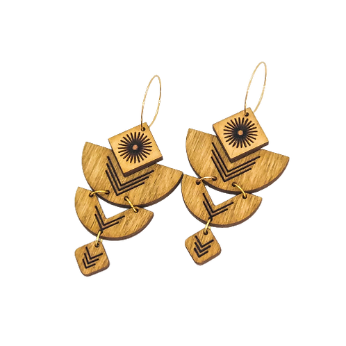 wood earrings | SUN GODDESS