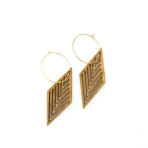 wood earrings | INCLINE