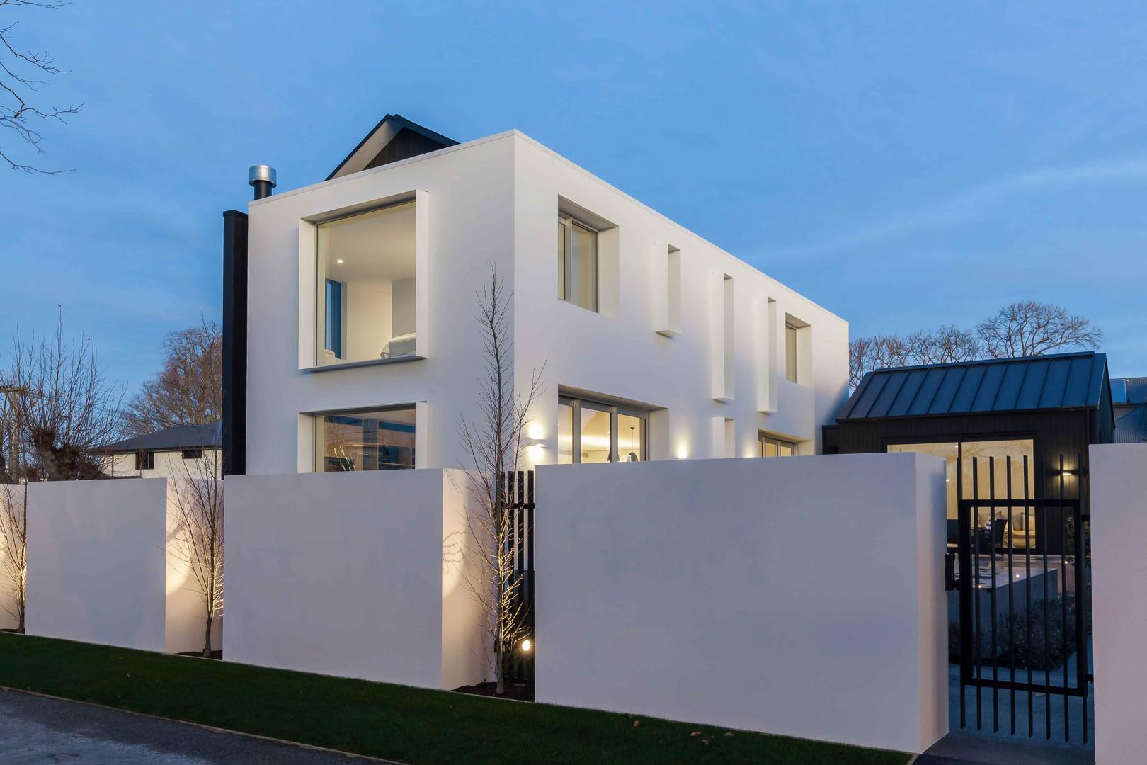 Garden Road exterior with feature lighti