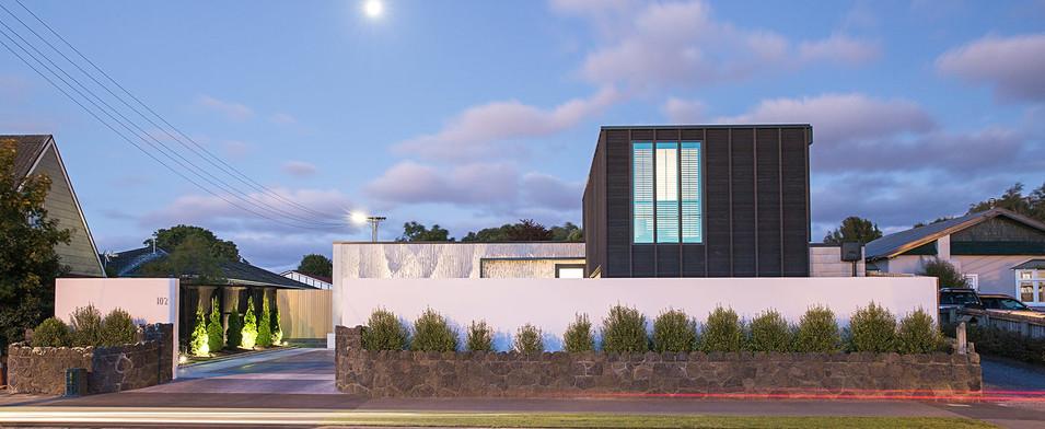 An exterior feature shot of Barrington