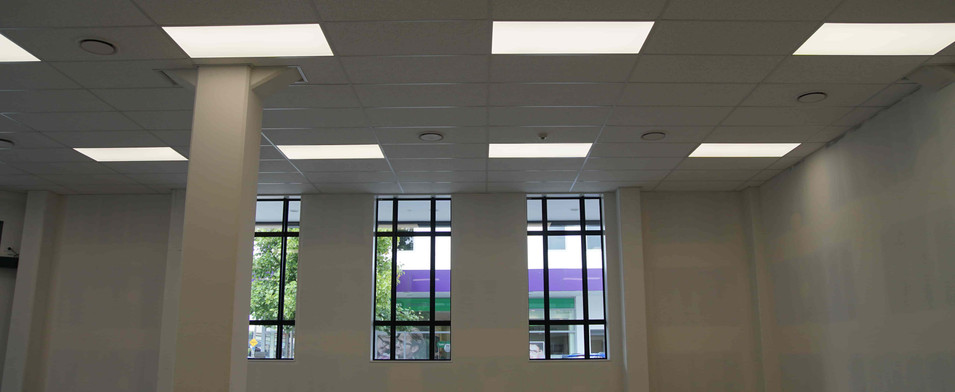 lighting in an untenanted space in the R