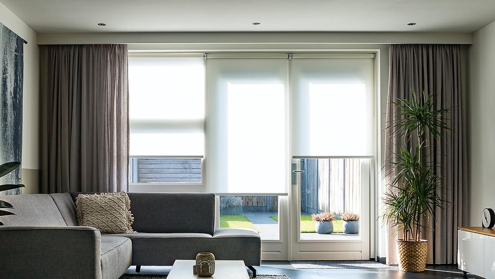 motorised blinds in a living room