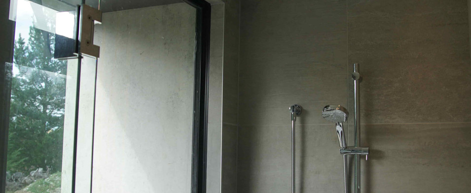 Shower with lighting at Langdales road