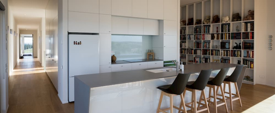 tai tapu kitchen with hallway