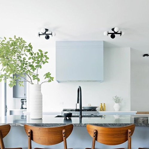 Kelly Wearstler Nodes Close to Ceiling Light