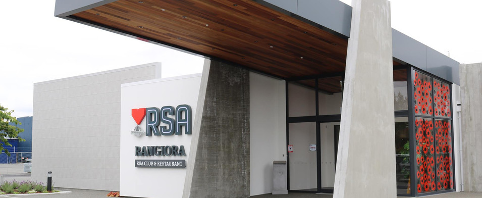 Entryway at the Rangiora RSA