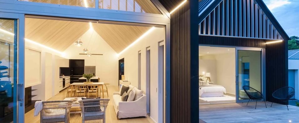 Wroxton Terrace exterior lighting at nig