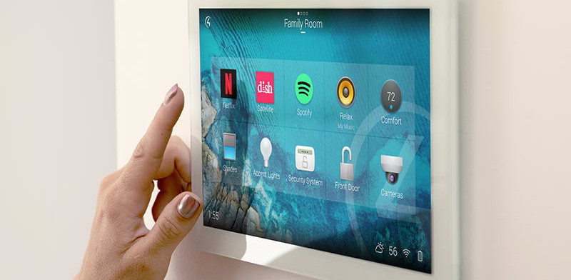 Control4 in-wall touch panel