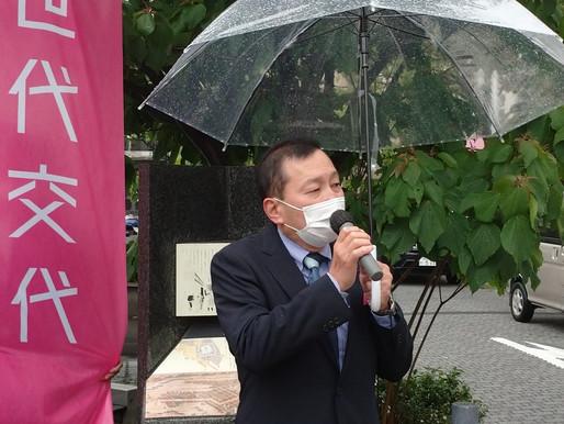 【自民党県連 街頭キャラバン開催】