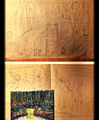 children's picture book illustration sketch plan drawing