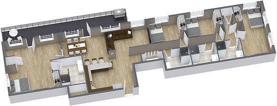 Mega Suite - 1. Floor - 3D Floor Plan-2.