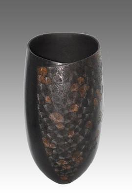 Vase Noyer Cristalisation cuivré - La Boissellière - Lydie Billon -