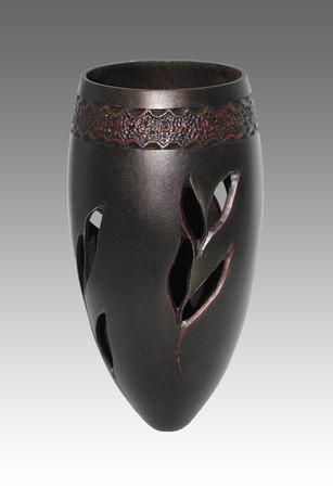 Vase Noir et Rouge - La Boissellière - Lydie Billon -