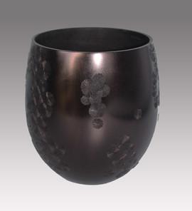 Vase Noir Cristalisation - La Boissellière - Lydie Billon -