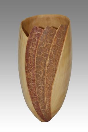 Vase Éventail en Peuplier - La Boissellière - Lydie Billon -