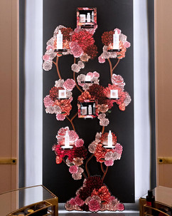 Flower graphic realisation for the Parisian Window of Christophe Robin, artistic direction: Carlotta de Guitaut in collaboration with Agata Gourlaouen