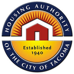 "Tacoma Housing Authority logo with words ""Housing Authority of the City of Tacoma Established 1940"""